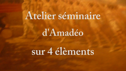 Seminar of amadeo on 4 elements - February 2010